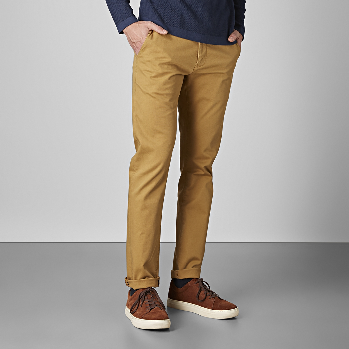 Bowery stretch chinos gul