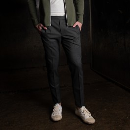 Tailored track trousers grå