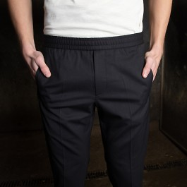 Tailored track trousers mörkblå