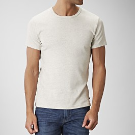 T-shirt o-neck krämvit