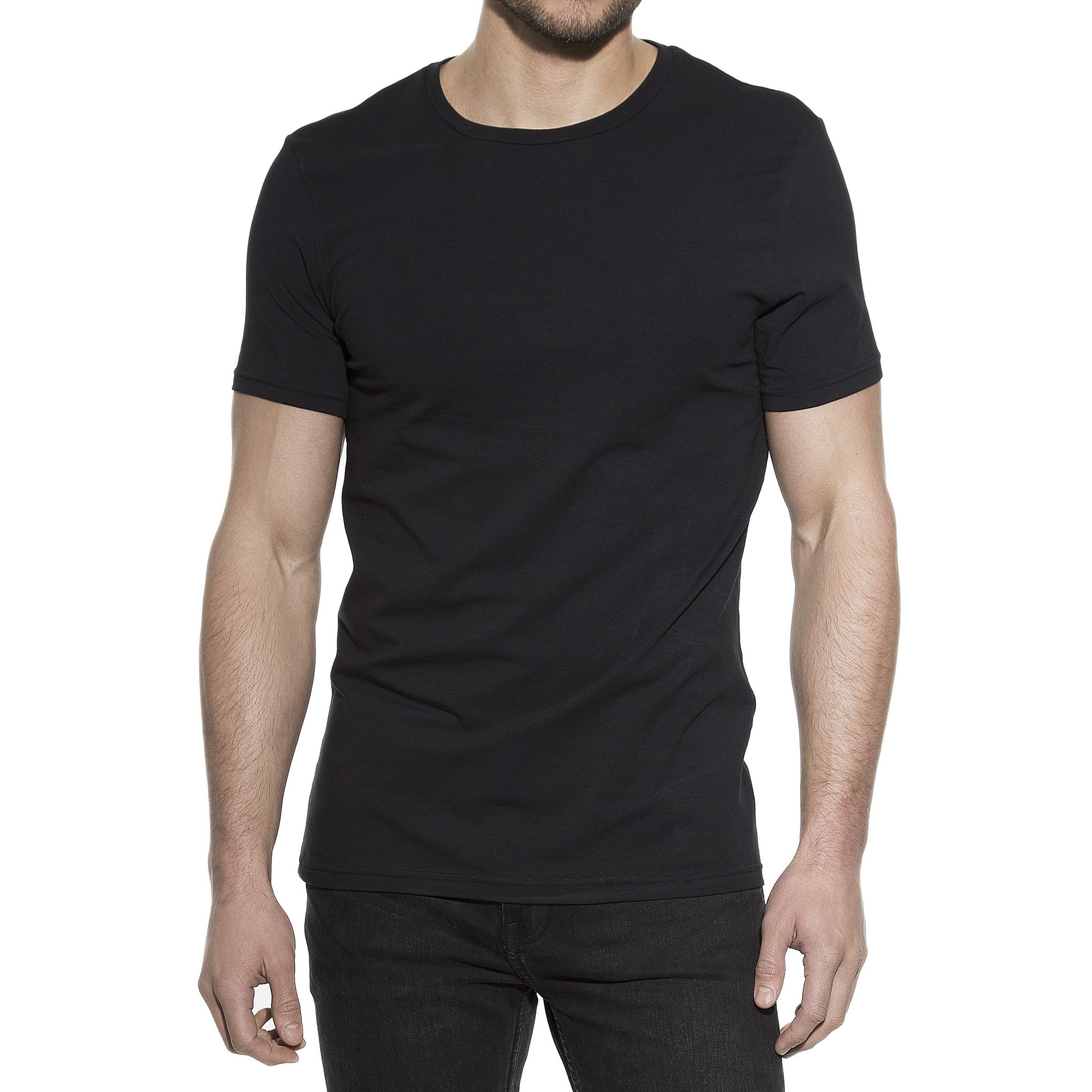 2-Pack Crew-Neck T-Shirt Svart | Bread & Boxers | Brothers.se