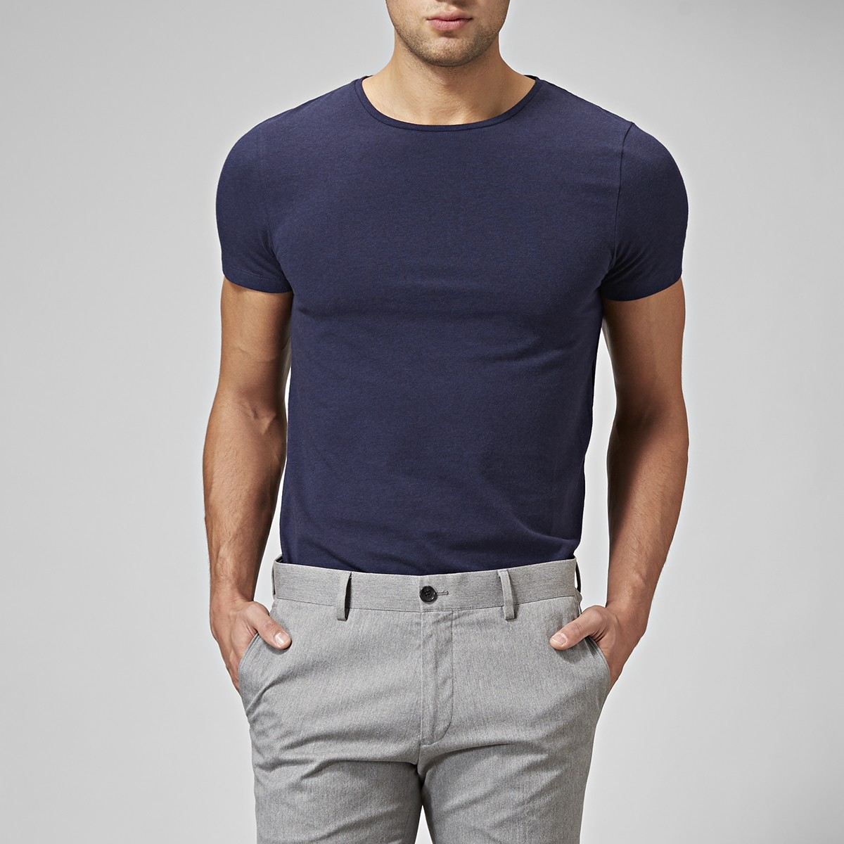 T-shirt Holborn O-neck Blå 2 | Riley | Brothers.se