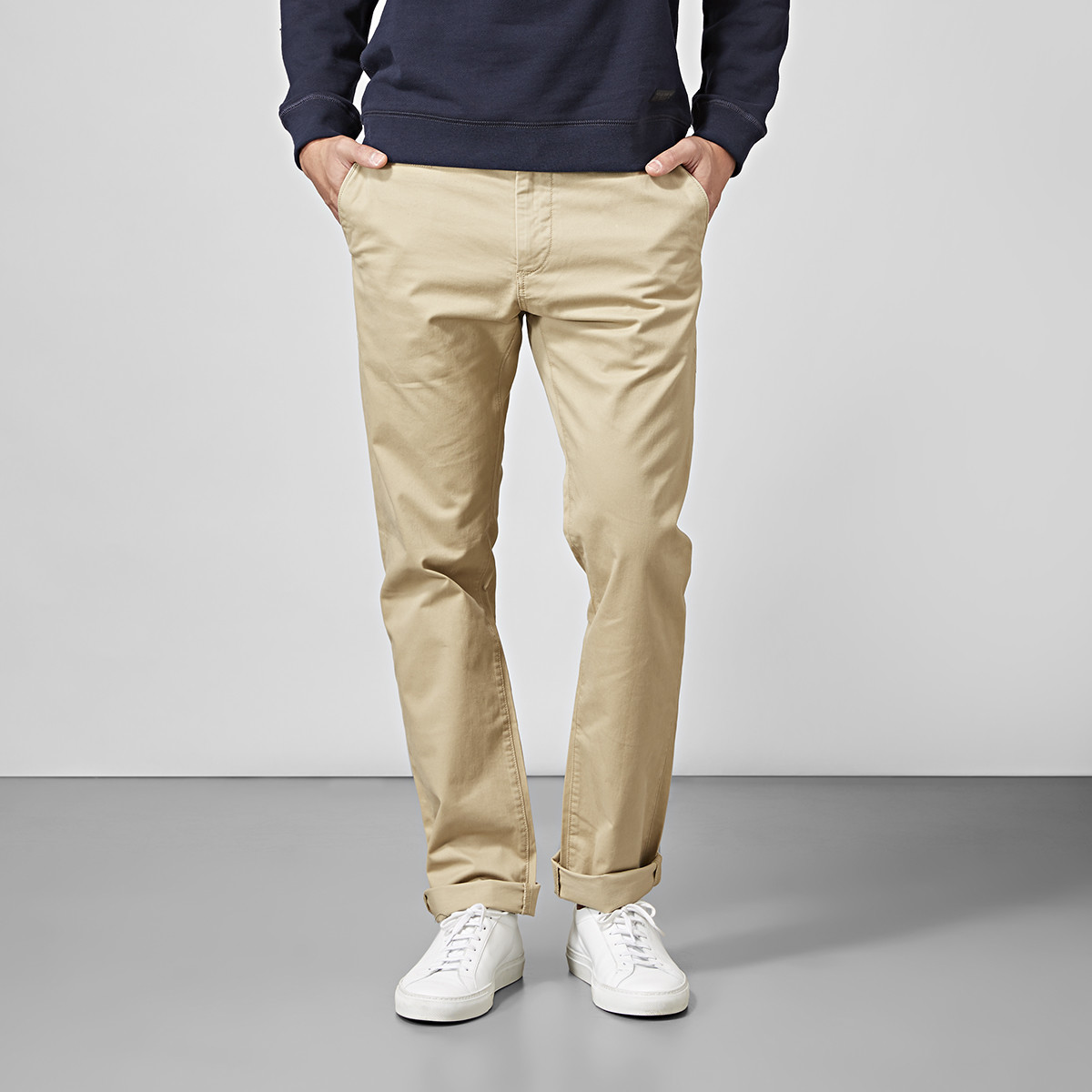 Regular fit chinos - beige | East West | Brothers.se