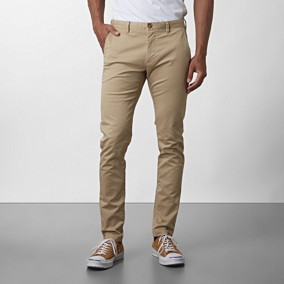 Chinos Barton Super Slim Fit - Beige | East West | Brothers.se