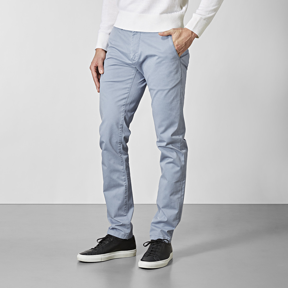 Bowery stretch chinos - blå | East West | Brothers.se