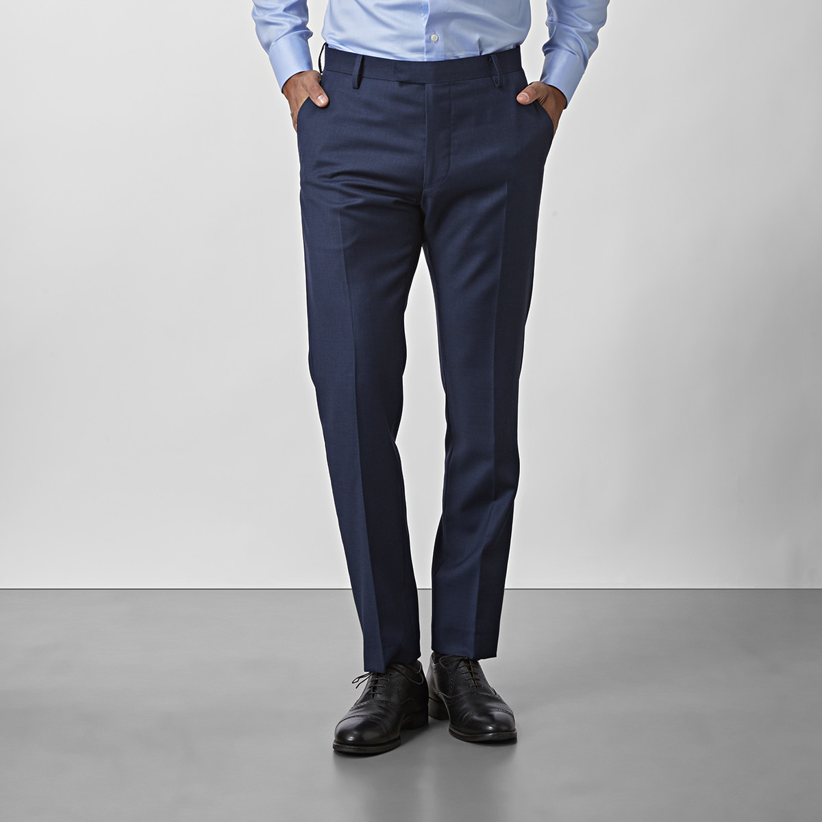 Shelby Wool Twill Byxor Blå | Riley | Brothers.se