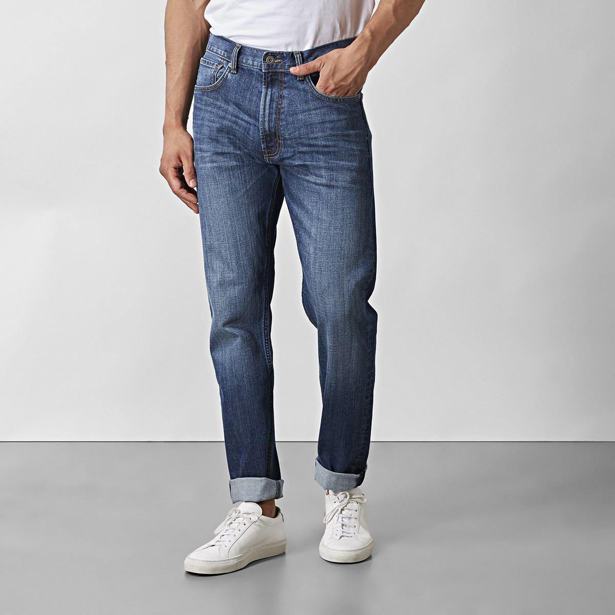 Jeans Bailey Mid-Indigo | East West | Brothers.se