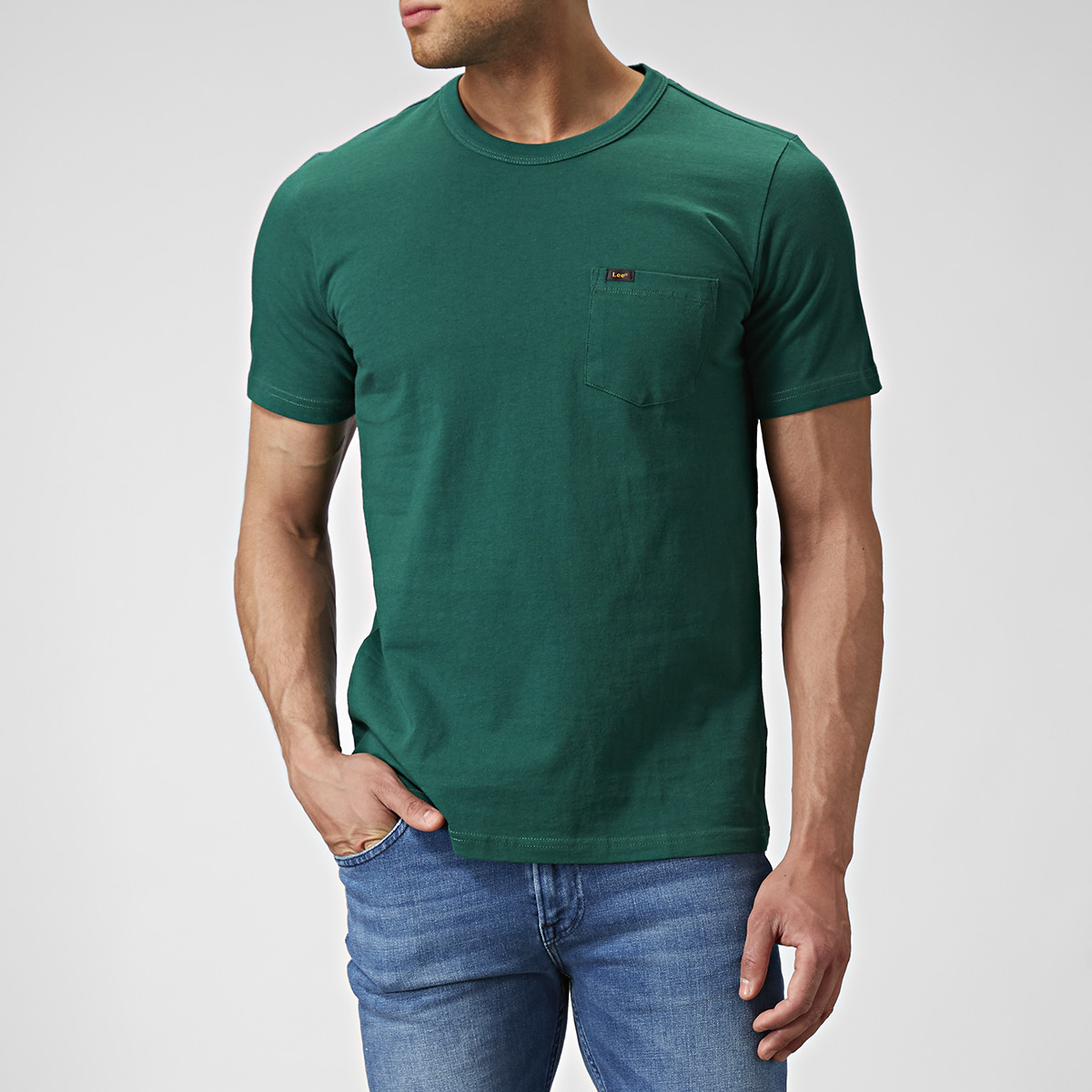 T-shirt Pocket Grön | Lee | Brothers.se