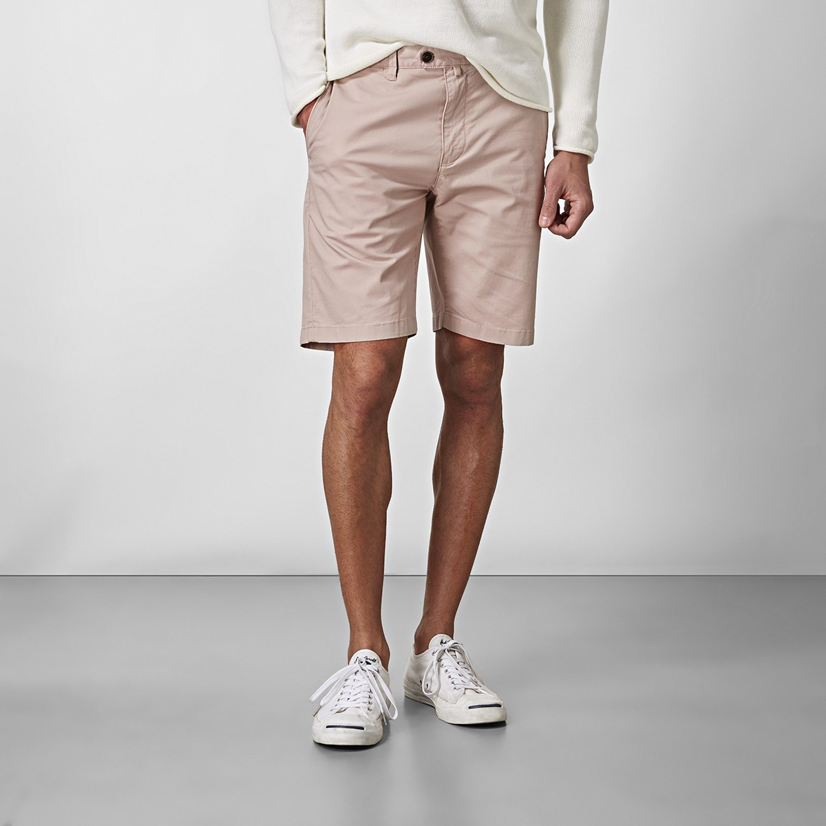 Bowery Chinos Shorts Rosa | East West | Brothers.se