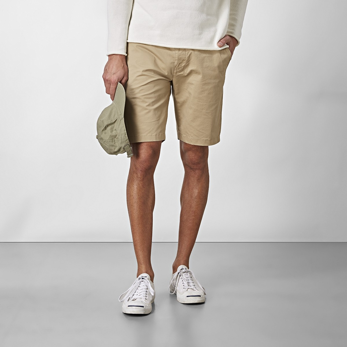 Bowery Chinos Shorts Beige | East West | Brothers.se