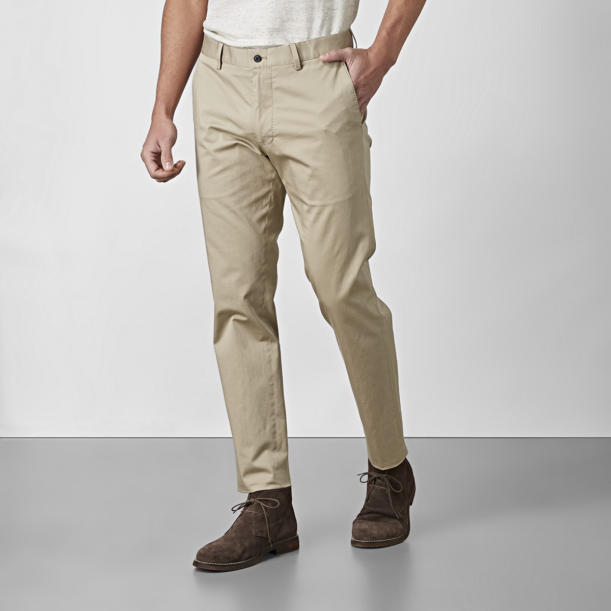 Stanton Byxor Beige | East West |Brothers.se