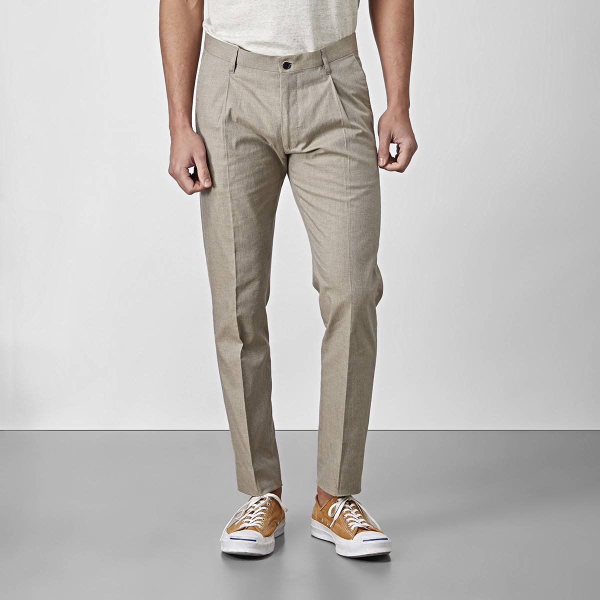 Bramley Bomullsbyxa Beige | The Tailoring Club |Brothers.se