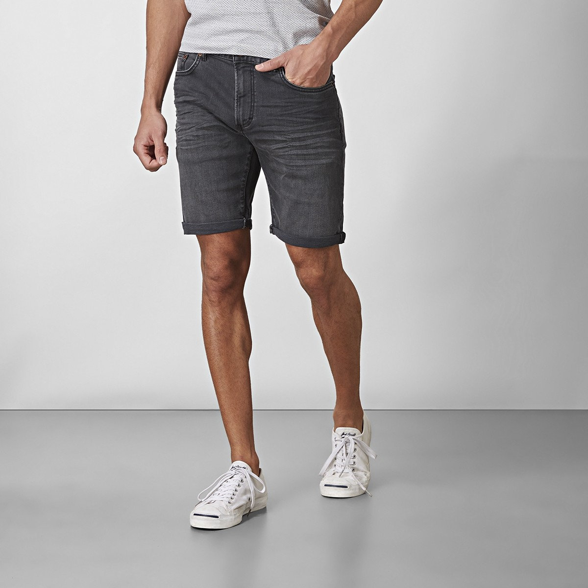 Bowery Jeansshorts Grå   East West   Brothers.se