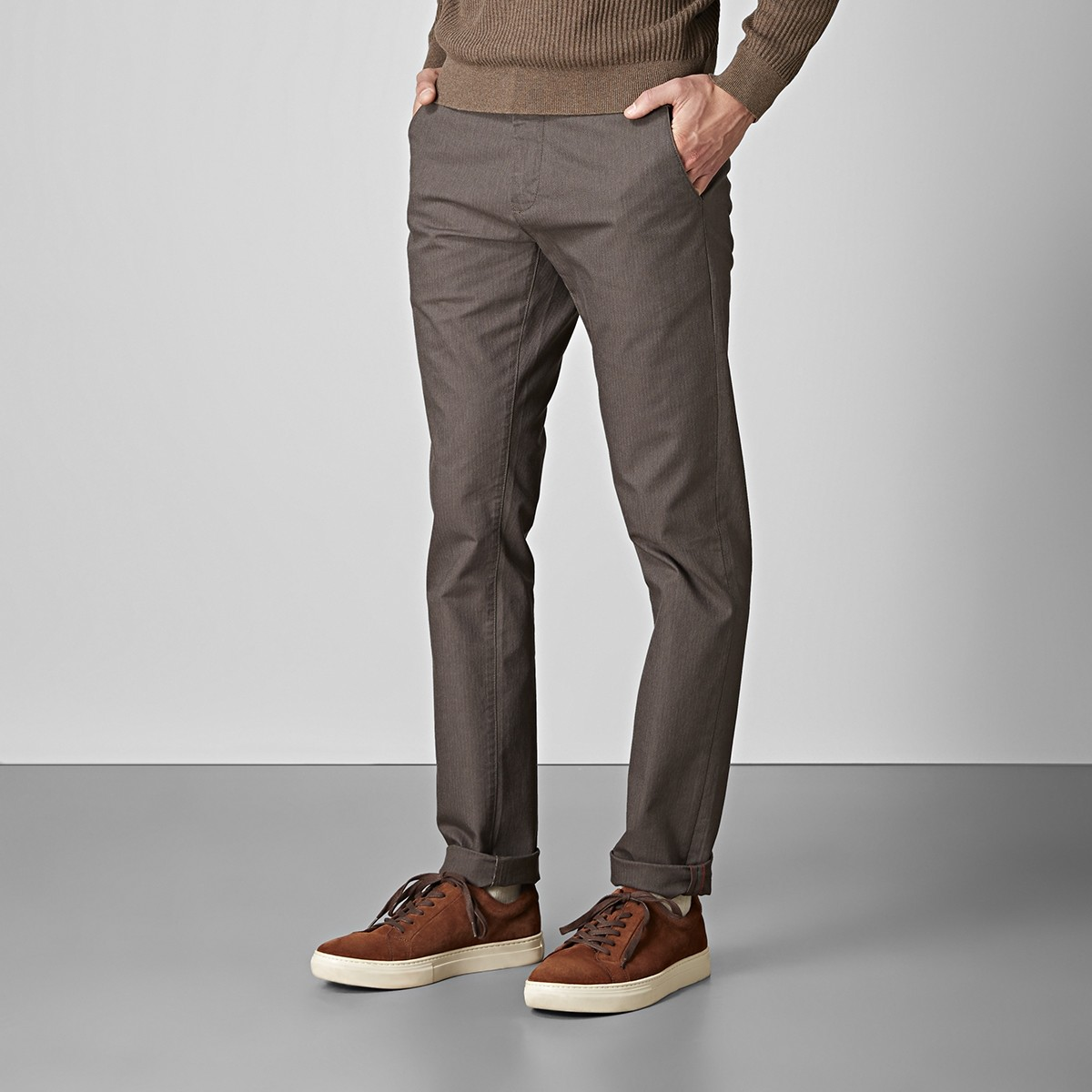 Bowery Stretch Chinos Brun 2 | East West | Brothers.se