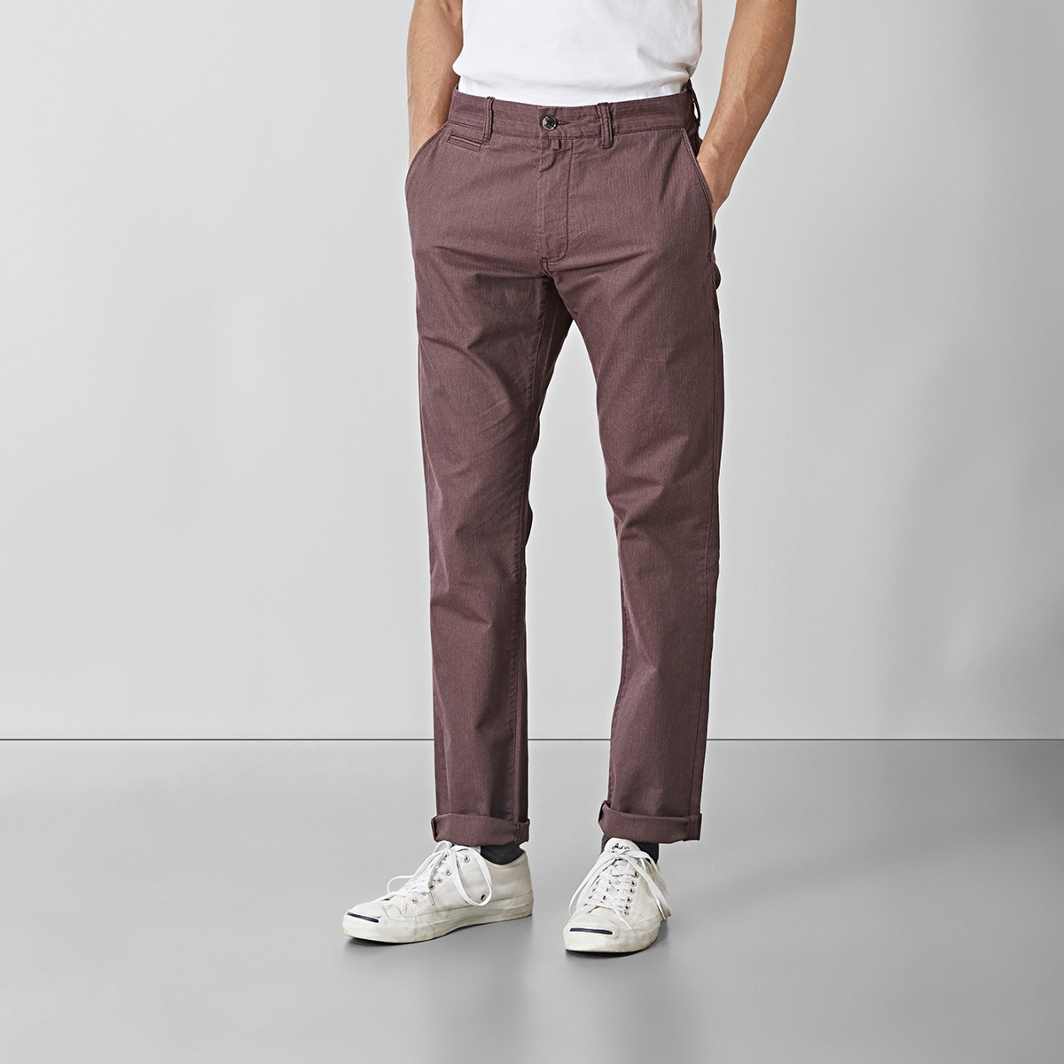 Baxter Stretch Chinos Röd | Riley | Brothers.se