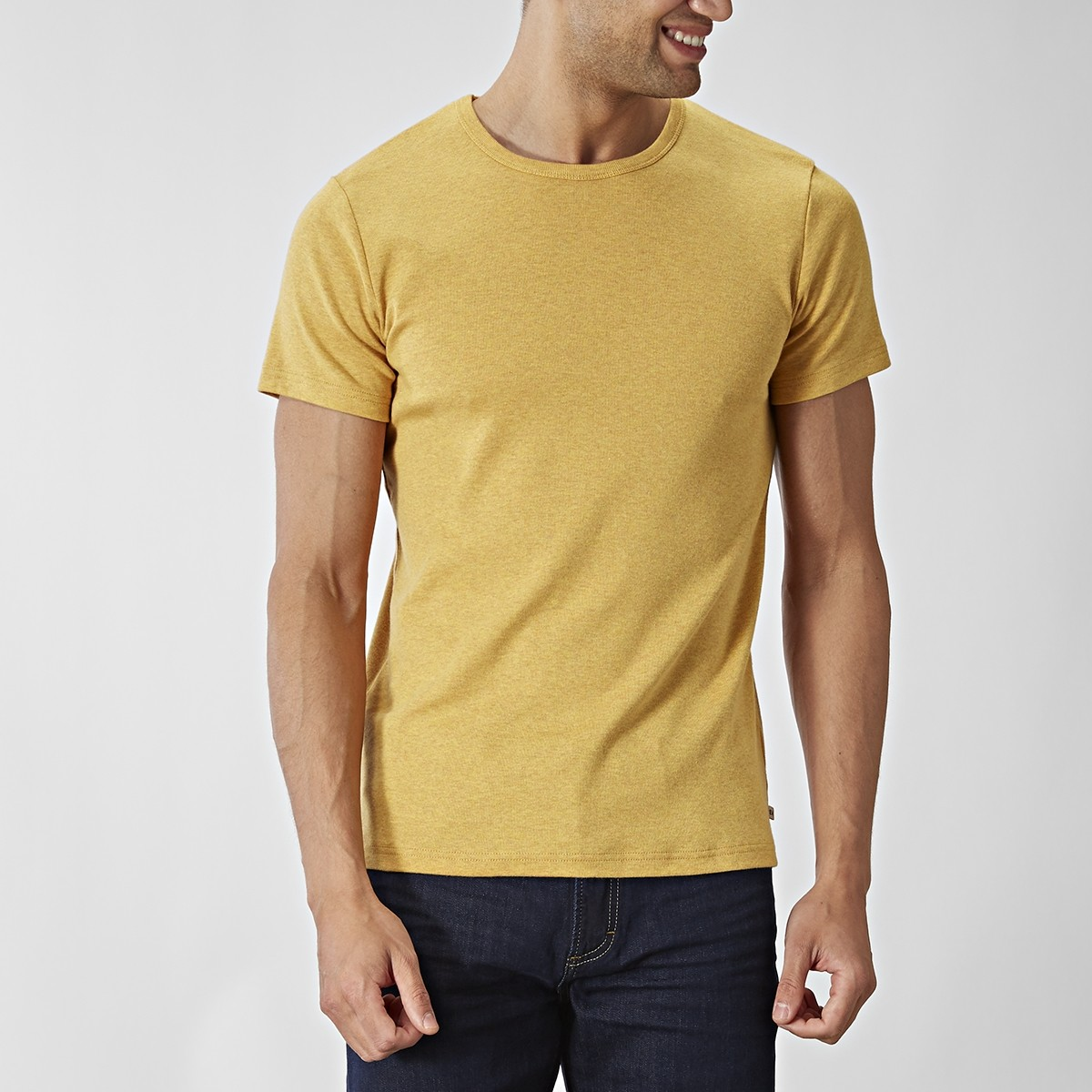 O-neck Gul T-shirt | East West | Brothers.se
