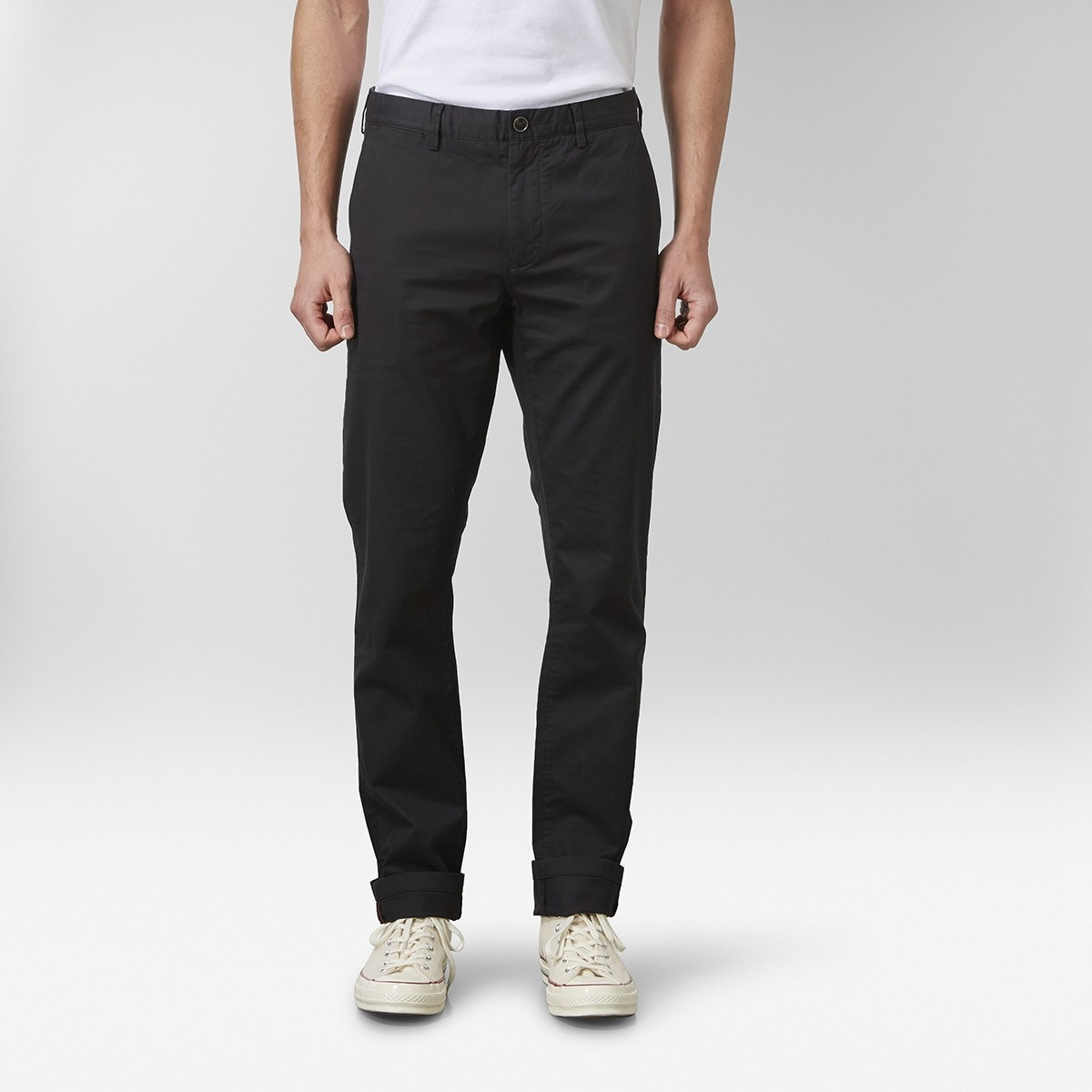 Bowery Stretch Chinos Svart | East West | Brothers.se