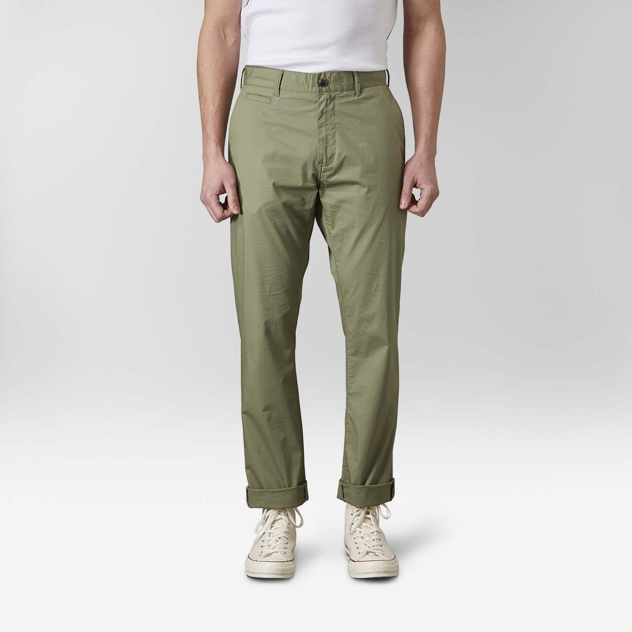 Baxter Light Weight Chinos Grön| East West | Brothers.se