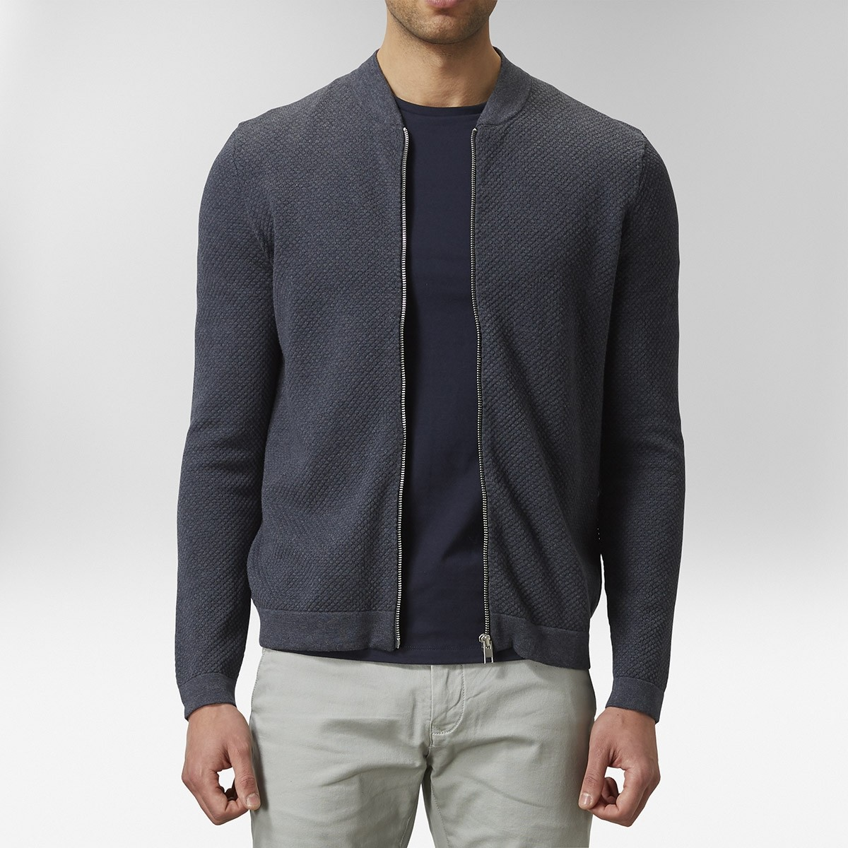 Keaton Cardigan Blå | East West | Brothers.se