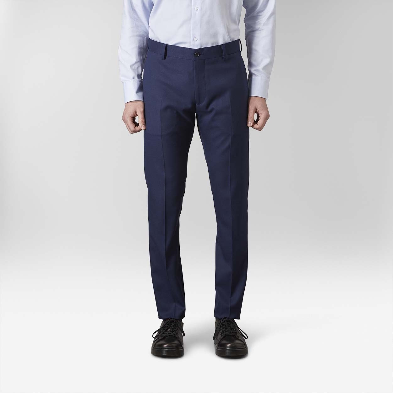 Stanton Twill Stretch Kostymbyxor Blå 5 | Riley | Brothers.se