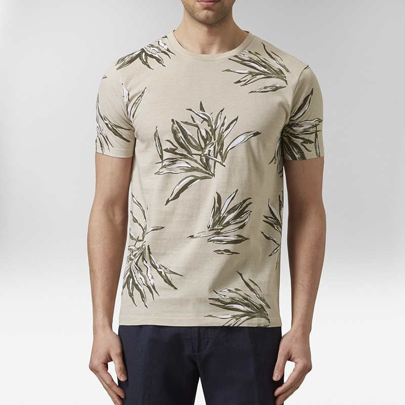 Ask Mönstrad T-shirt Beige   Riley   Brothers.se