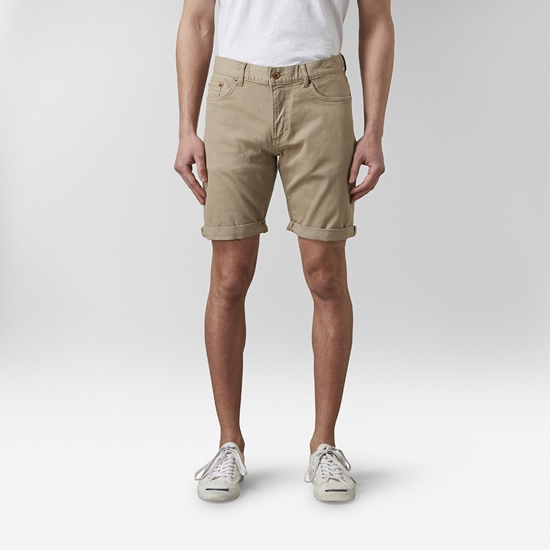 Bowery Jeansshorts Beige | East West | Brothers.se