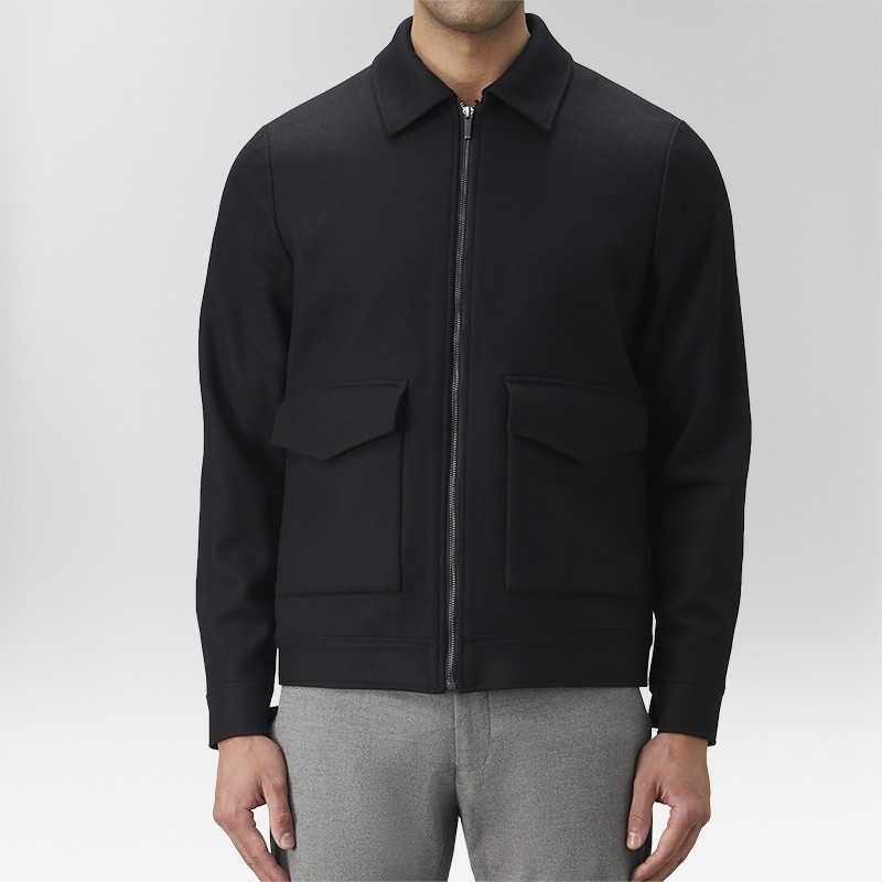 Yale Jacka Zip Svart | The Tailoring Club | Brothers.se
