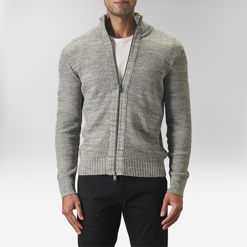 Compton Cardigan Grå | The Tailoring Club | Brothers.se