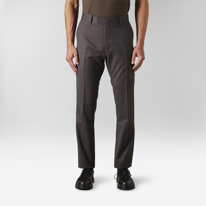 Kostymbyxor Two Tone Twill Brun | Riley | Brothers.se