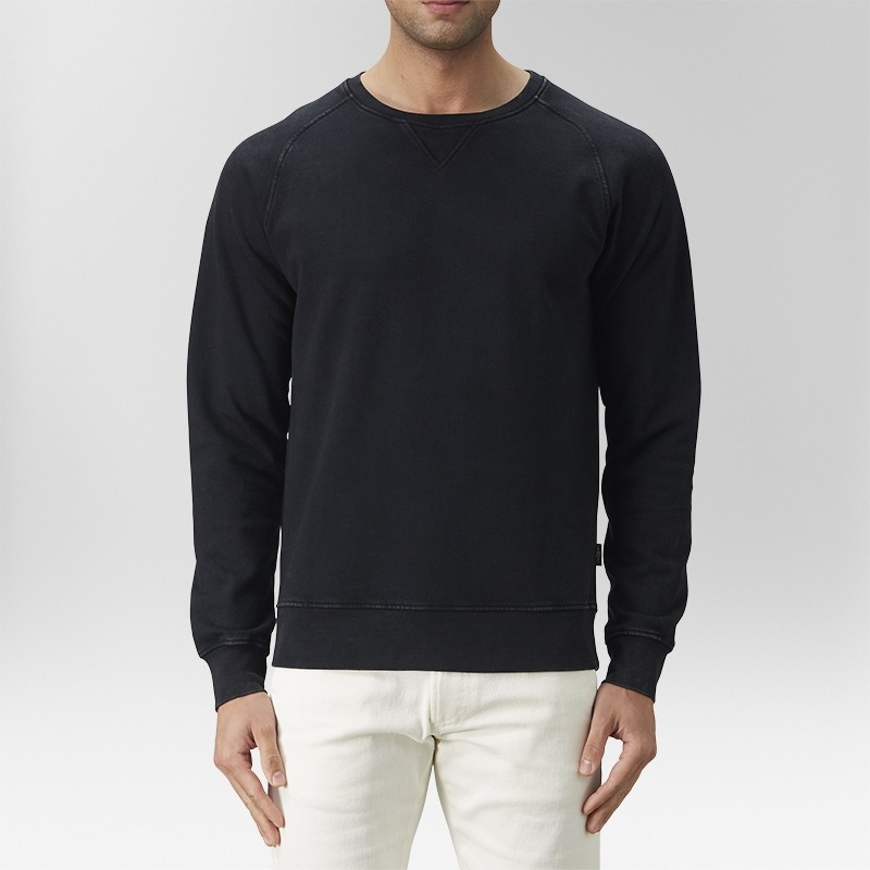 Vernon Sweatshirt Tröja Svart | The Tailoring Club | Brothers.se