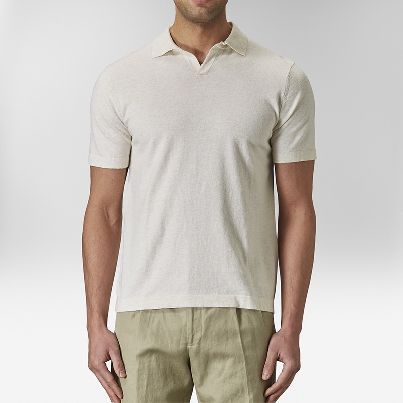 Ven Polo T-shirt Beige | Riley | Brothers.se