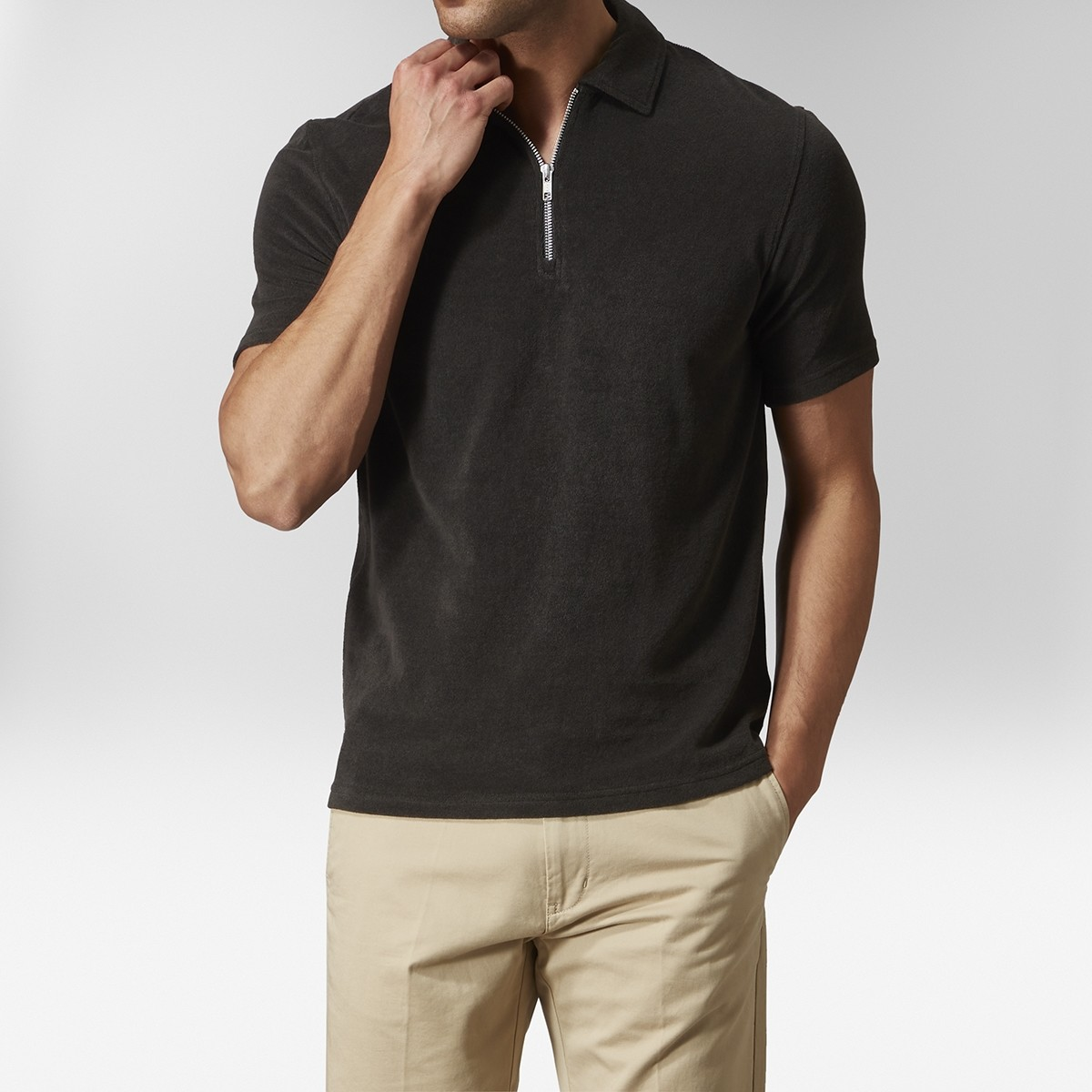 Parker Terry Polo Svart | East West | Brothers.se