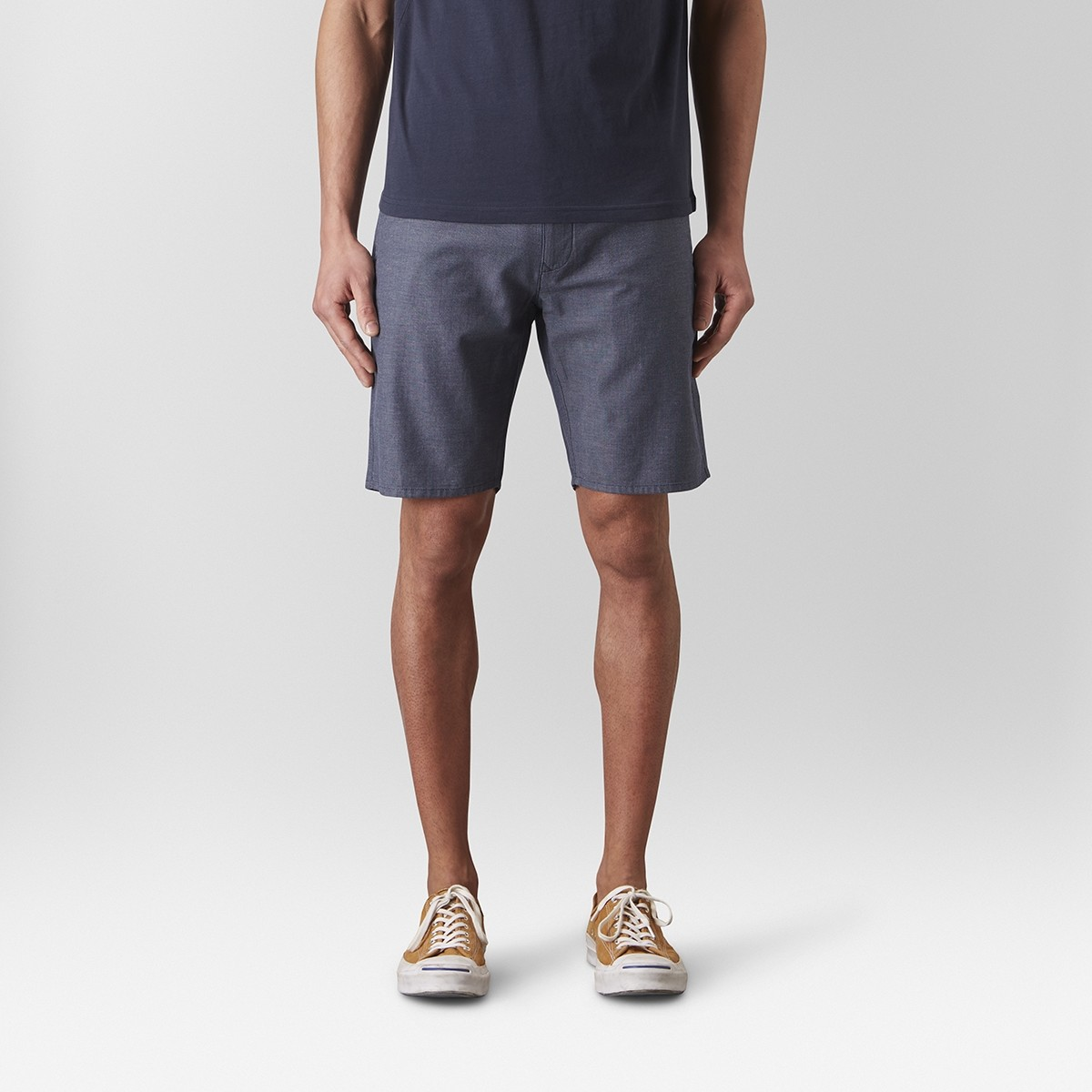 Bowery Chinos Short Mellanblå   East West   Brothers.se