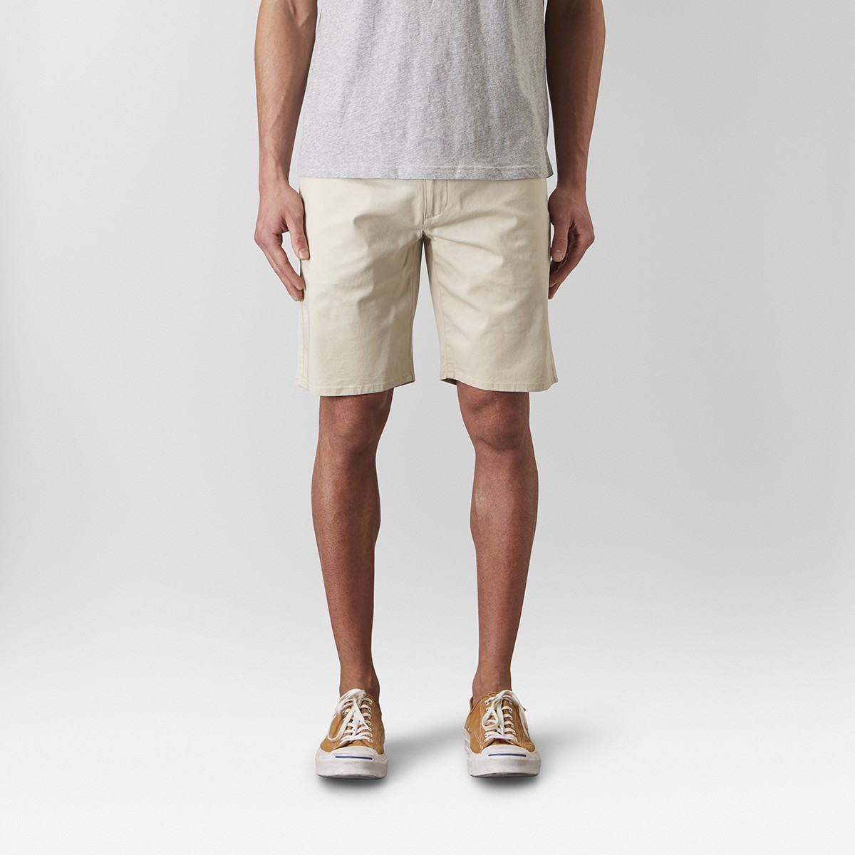 Bowery Chinos Short Beige | East West | Brothers.se