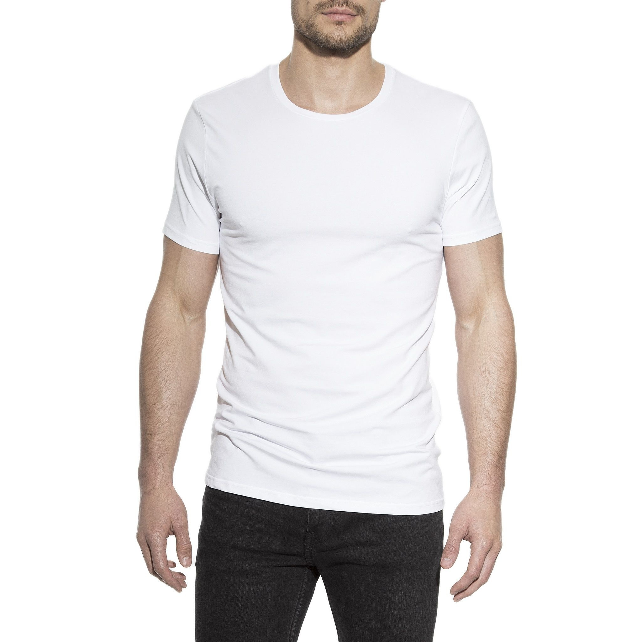 2-Pack Crew-Neck T-Shirt Vit | Bread & Boxers | Brothers.se