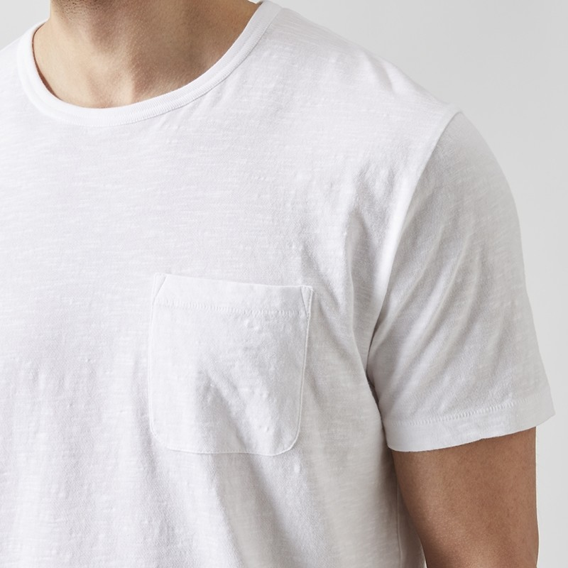 Konstantin Slub T-shirt Vit | East West | Brothers.se