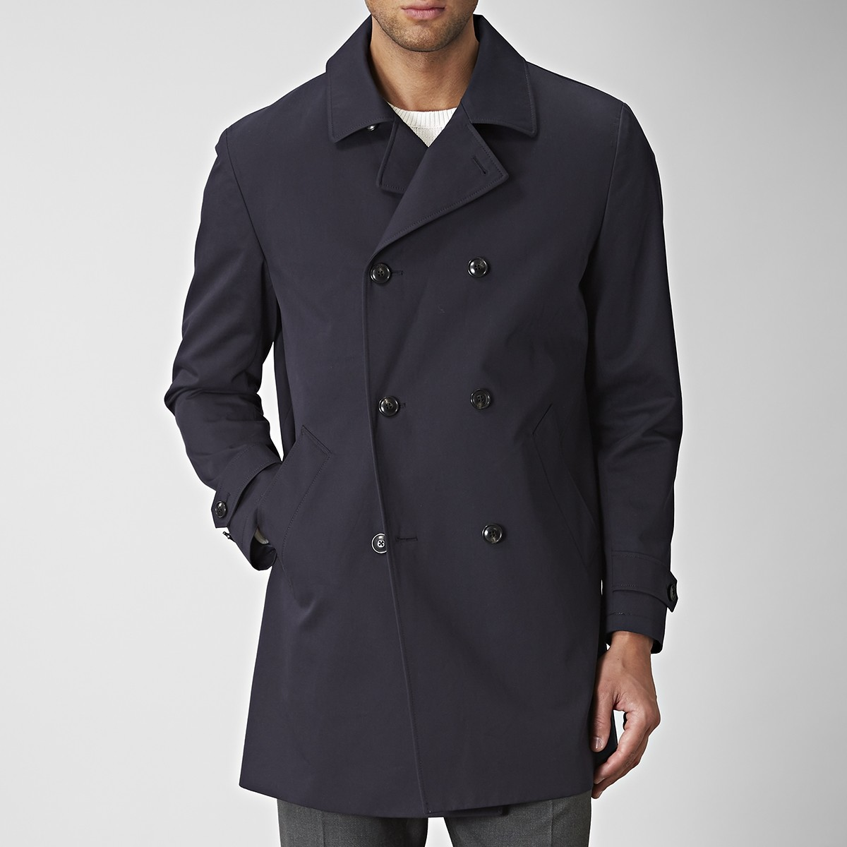 Shelby Trenchcoat Blå   Riley   Brothers.se