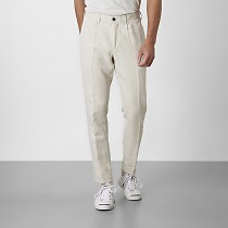 Cropped chinos beige