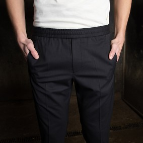 Tailored Track Trousers Mörkblå | Ljung | Brothers.se