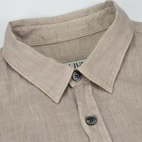 Washed Linen shirt beige | Ljung | Brothers.se