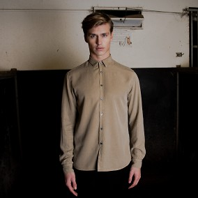 Washed Tencel Shirt Beige | Ljung | Brothers.se