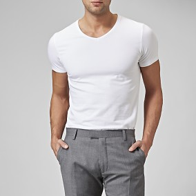 T-shirt Holborn V-neck Vit 2 | Riley | Brothers.se