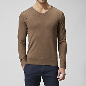 TRÖJA TRUMAN COTTONSILK V-NECK