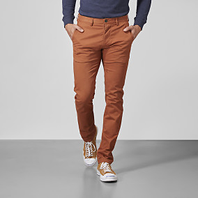 Chinos Bowery Stretch röda | East West Brothers.se
