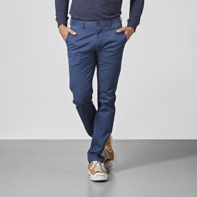 Slim fit Chinos Bowery Stretch blue | East West Brothers.se