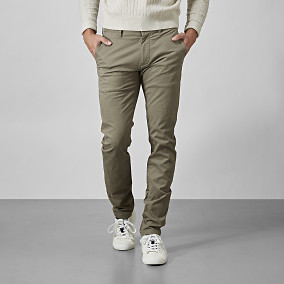 Slim fit chinos- capers | East West | Brothers.se