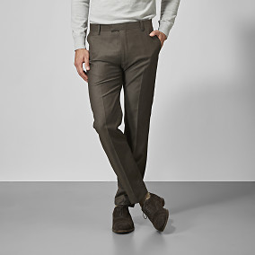 Kostymbyxa Shelby Wool Twill - Brun | Riley | Brothers.se