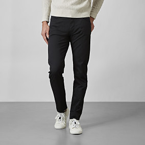Slim fit byxa - Stanton Cotton - Svart | Riley | Brothers.se