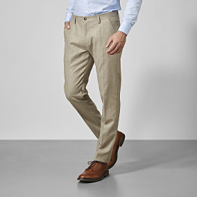 Flanellbyxa Bramley - beige | The Tailoring Club | Brother.se