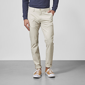 Chinos Bowery Stretch Silver lining | East West Brothers.se